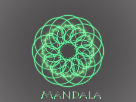 Mandala. Ornamento Rotondo. Islam, motivi arabi, indiani, ottomani. Archivio Fotografico - 96823979
