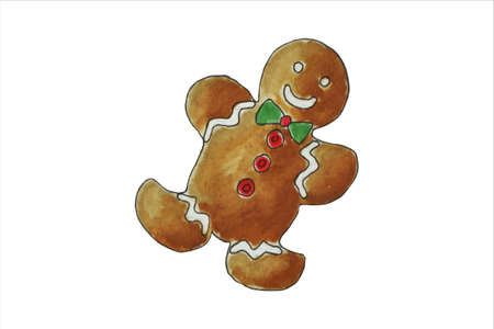 Gingerbread men. Vector Christmas holiday elements.