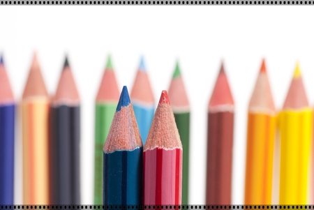 the sunken: This is an image of color pencils. Stock Photo