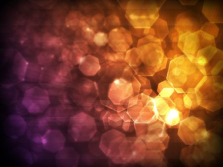 innuendo: light spots and polygons in a beautiful orange-violet tones