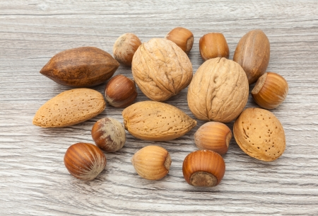 mixed nuts: Mixed nuts on the table