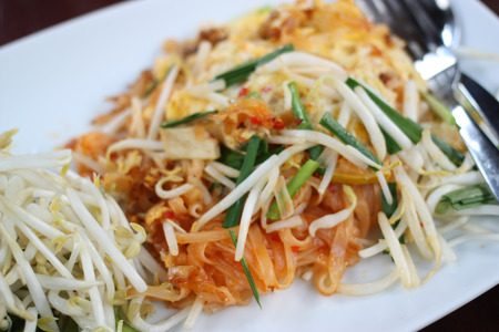 pad thai is most famous fried noodle in Thailand photo