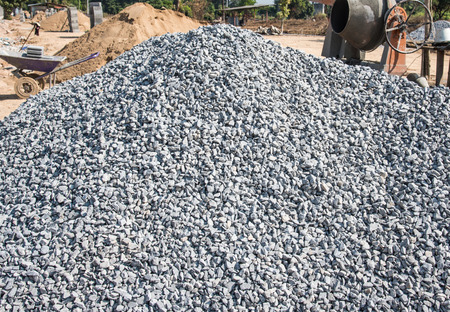 pile of construction rock