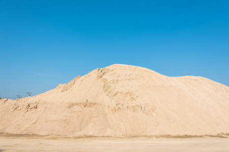 sand quarry: Big pile of construction sand Stock Photo