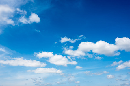 autumn sky: beautiful clouds in the  blue sky of Thailand