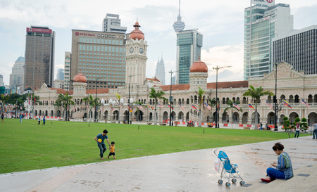 kl: KUALA LUMPUR, MALAYSIA - MARCH 2016:Sultan Abdul Samad Building in KL city Editorial