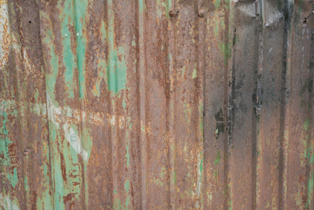 grudge: Texture of rusty old metal piece shows detail and worn sign