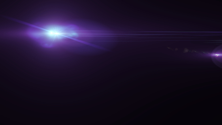 Realistic Len flare glow light effect on black background. Optical flares ove