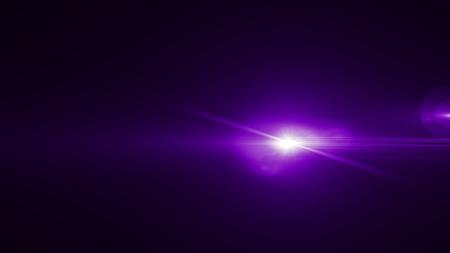 Realistyczny efekt świetlny poświaty Len na czarnym tle. Flary optyczne