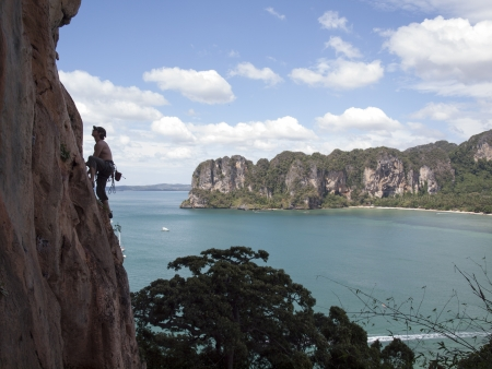 Ton Sai rock climbing, Thailand photo