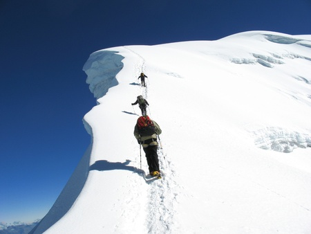 Ascent on the Vallunaraju, Cordillera Blanca photo