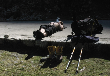 Resting in the Llaca valley, Cordillera Blanca photo