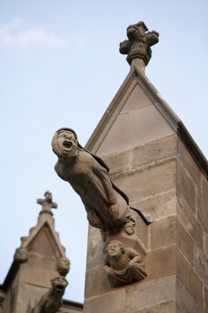 gargouilles: Gargoyles dans le ch�teau de Carcassonne Banque d'images