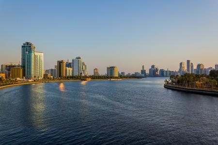 sharjah: Sharjah Skyline Stock Photo