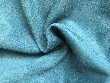 folds of blue fabric