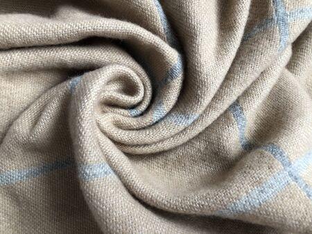 folds of soft beige fabric Stok Fotoğraf