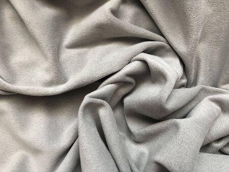 folds of gray soft fabric Stok Fotoğraf
