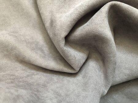 gray folds of soft fabric