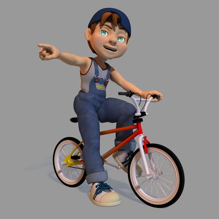 juvenile: Boy on a bicycle