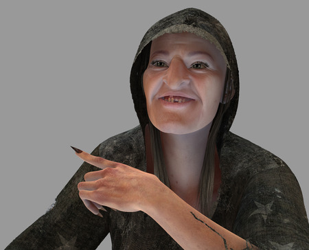 hag: The old witch render isolated from the background