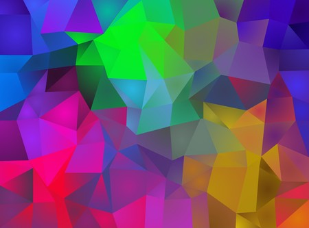 triangulation: Abstract background of multicolored triangles created by triangulation