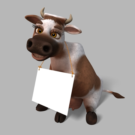 yong: Yong Cow isolated on a gray background in various poses