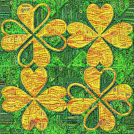gobelin tapestry: Tapestry saint patricks day background of stylized leaf clover