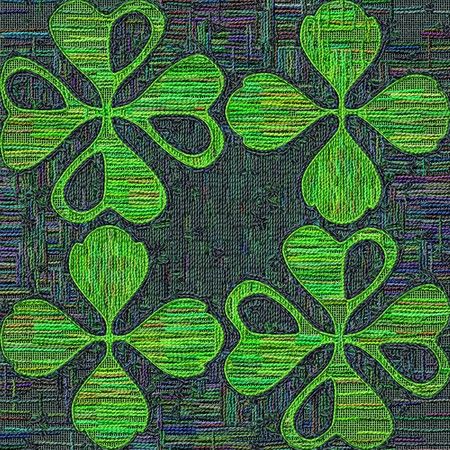 gobelin tapestry: Tapestry saint patricks day background of stylized leaf clover