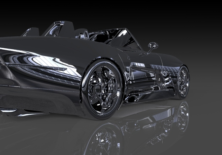 Three-dimensional model concept car. Non-branded car design.