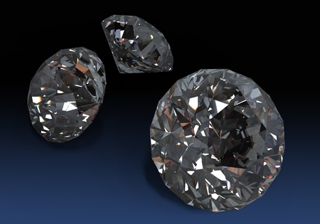 carat: Gem Stones. Collections of jewelry gems on black. Stock Photo