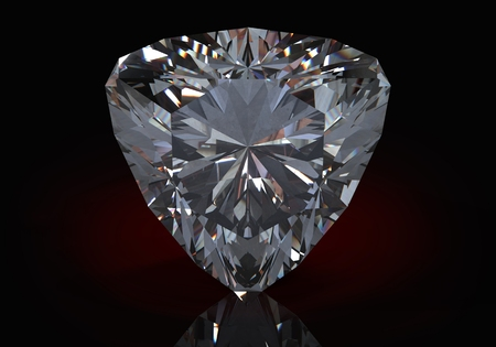 gem: Gem Stone. Rendering jewelry gem on black. Stock Photo