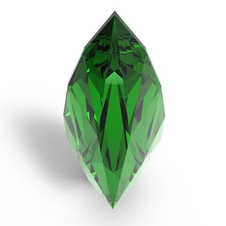 gem: Gem Stone. Rendering jewelry gem on white background.