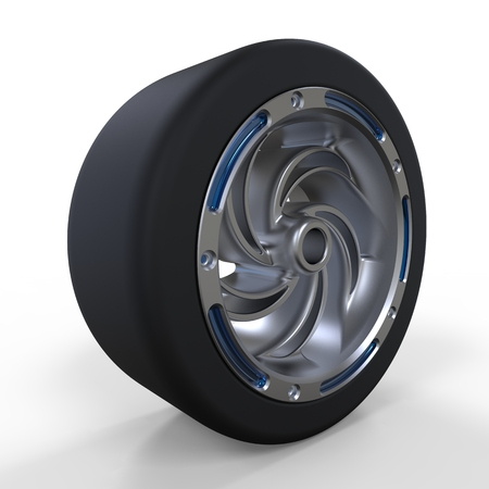 aluminum wheels: Car wheel. Illustration on white background for design
