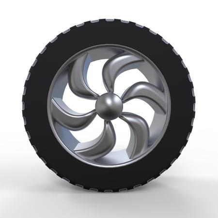 Car wheel. Illustration on white background for design illustration