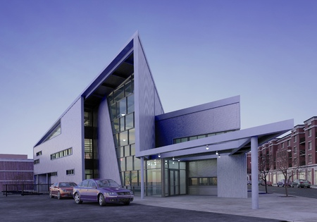 Three-dimensional visualization of the city building exterior. Stok Fotoğraf