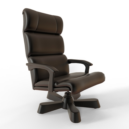 black metallic background: Office chair black metallic colors Isolated on white background. Stock Photo