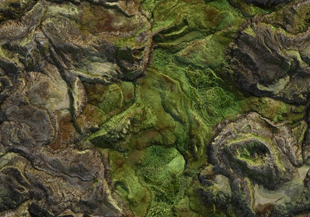 Seamless terrain texture map