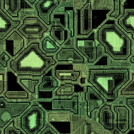 green it: Seamless green techno background, It can also be used as texture. Stock Photo