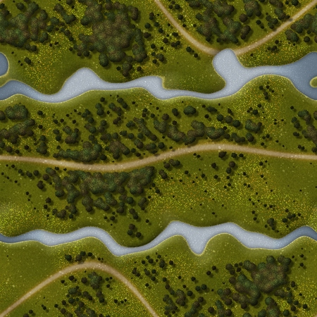 Nahtloses grünes Gelände Hintergrund