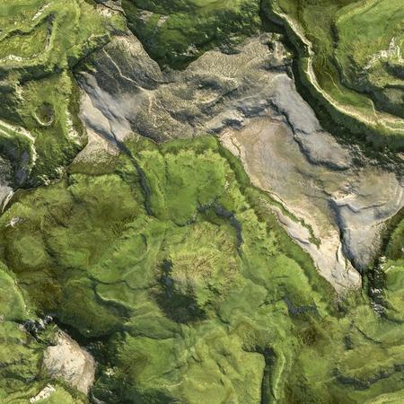 Seamless green terrain background Stok Fotoğraf