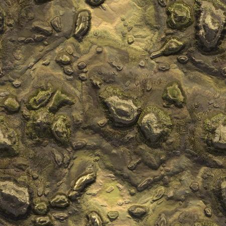 Seamless stone terrain background