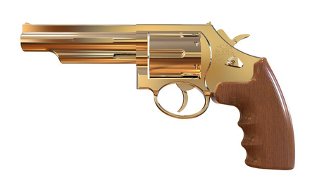 tommy: 3d pistol isolated on a white background Stock Photo