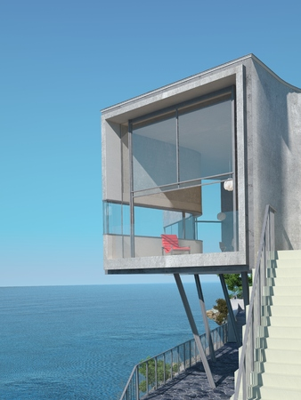 open air: 3d rendering of the home in the open air.