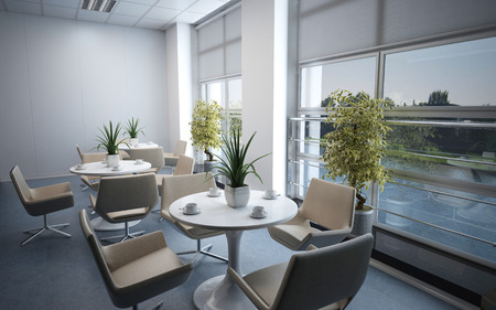 Photorealistic 3d render of a office Stok Fotoğraf
