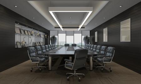Photorealistic 3d render of a office Banco de Imagens - 44172930