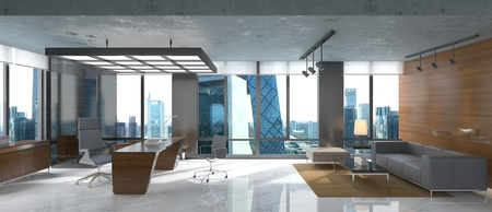 Photorealistic 3d render of a office 版權商用圖片