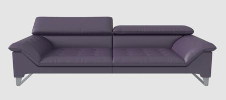 white sofa: 3d Illustration of a sofa isolated on white