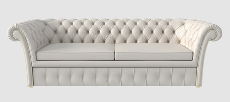 livingroom: 3d Illustration of a sofa isolated on white