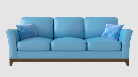 3d Illustration of a sofa isolated on white