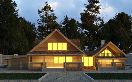 Photorealistic render of the building in the open air.